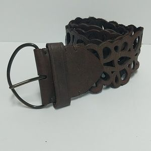 Abercrombie & Fitch Wide Leather Belt